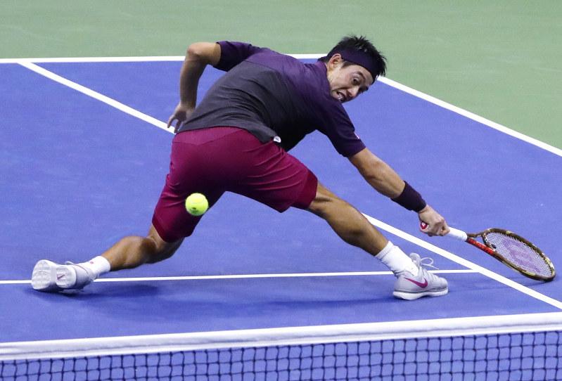 テニス:全米オープン 錦織、ジ...