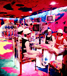 せんい館 サイケデリックなレストラン=1970年2月9日