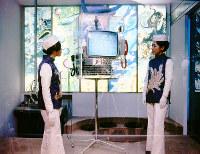 古河パビリオン 未来の生活がテーマのコンピューター展示=1970年3月4日