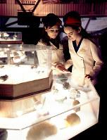 チリ館 鉱物が展示されたチリ館=1970年