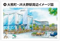 大熊町・JR大野駅周辺イメージ図