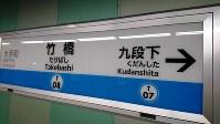 竹橋駅の表示