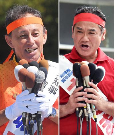 沖縄知事選:4氏届け出、投開票3...