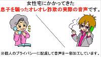 オレオレ詐欺の犯人からの電話の音声を公開した動画の画面=奈良県警提供
