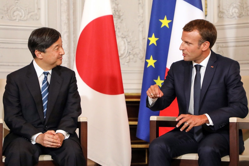 "Image result for MACRON, JAPANESE PRINCE, ""Sept 13, 2018"""