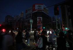 停電に見舞われた札幌の市内