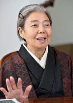 女優の樹木希林さん=東京都渋谷区の自宅で2016年1月27日、関口純撮影