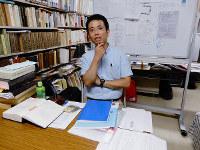 「龍谷アドバンスト・プロジェクト」を振り返る野呂靖さん=京都市下京区で、玉木達也撮影