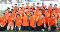 第1回エスペランサカップのボランティアスタッフ=堺市堺区築港八幡町のJ-GREEN堺で、山本夏美代撮影