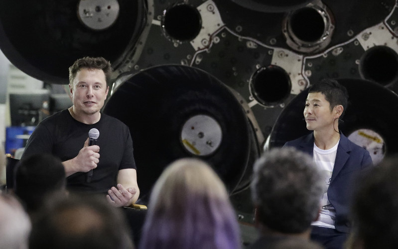Elon Musk and SpaceX unveils the first private passenger to the Moon