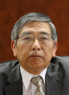 Bank of Japan governor Haruhiko Kuroda (Mainichi)