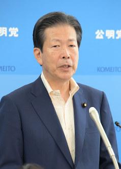 Komeito chief Natsuo Yamaguchi (Mainichi)