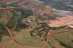 ブラジルのミナス・ジェライス州にあるCBMM社のニオブ精錬工場(双日提供)