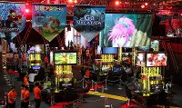 The Tokyo Game Show, one of the biggest exhibitions of its kind in the world, opened at Makuhari Messe in Chiba's Mihama Ward on Sept. 20, 2018. (Mainichi/Naoaki Hasegawa)