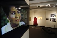 In a photo from Sept. 21, 2018, in Detroit, an exhibit at the Charles H. Wright Museum of African American History features a
