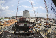 This June 13, 2014 file photo shows construction on a new nuclear reactor at Plant Vogtle power plant in Waynesboro, Georgia. (AP Photo/John Bazemore)