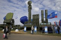 In this Aug. 27, 2013 file photo, Russian air defense system missile system Antey 2500, or S-300 VM, is on display at the opening of the MAKS Air Show in Zhukovsky outside Moscow, Russia. (AP Photo/Ivan Sekretarev)