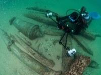 9月24日、ポルトガル沿岸を調査していた考古学者らが、400年前にインドから香料などを積み込んできてリスボン付近で沈没したと考えられる船体を発見した。 提供写真(2018年 ロイター/Augusto Salgado/Cascais City Hall)