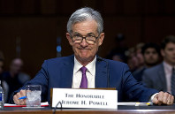 In this July 17, 2018 photo, Federal Reserve Board Chair Jerome Powell testifies before the Senate Committee on Banking, Housing, and Urban Affairs on
