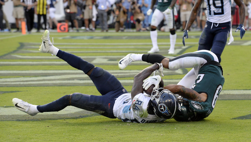 new style 04056 0ef45 NFL  Titans edge Eagles 26-23 on TD pass late in OT