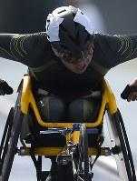陸上男子中距離(車いすT52)の佐藤。アジアパラ大会を通過点に飛躍を期す