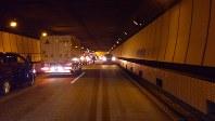 事故直後の笹子トンネル内の様子=2012年12月2日午前8時10分、提供写真