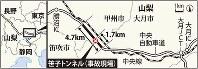 笹子トンネル(事故現場)