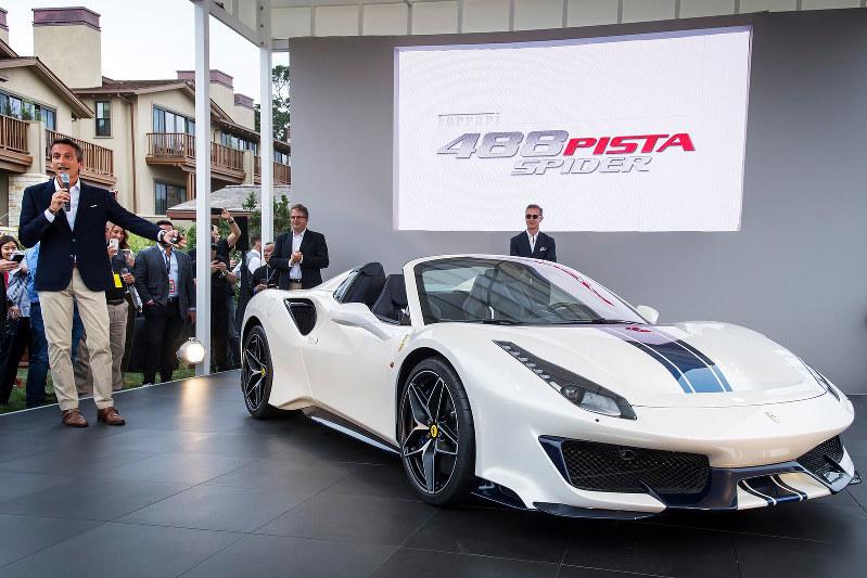 フェラーリが2018年に発表したオープントップのスポーツカー「488 ピスタ スパイダー」