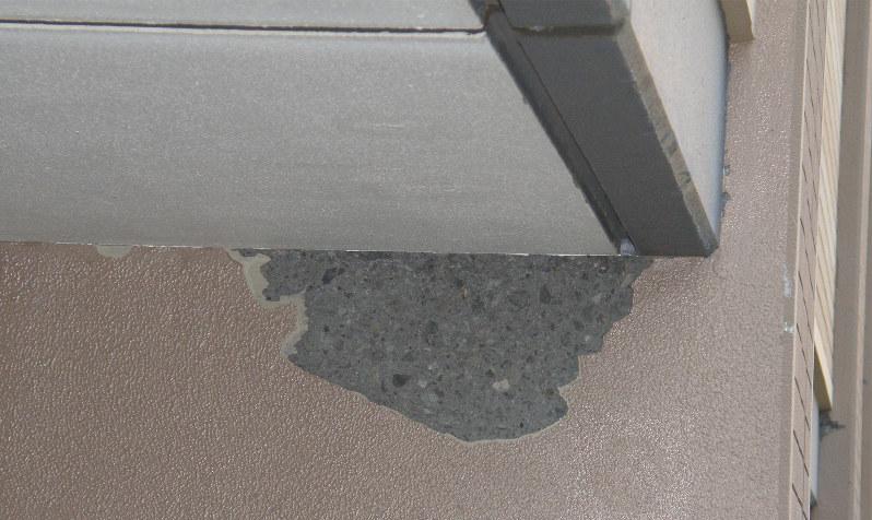 高強度コンクリートが地震の影響で欠損したケース 岸崎孝弘氏提供