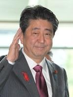 安倍晋三首相=川田雅浩撮影