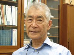 京大研究室の本庶氏。2016年6月撮影