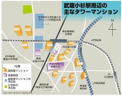 武蔵小杉駅周辺の主なタワーマンション