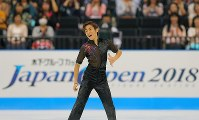 【ジャパンオープン】演技を披露する織田信成=さいたまスーパーアリーナで2018年10月6日、宮武祐希撮影