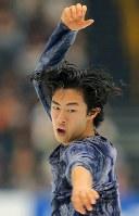 【ジャパンオープン】演技を披露するネーサン・チェン=さいたまスーパーアリーナで2018年10月6日、宮武祐希撮影
