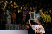 【ジャパンオープン】演技するゲストスケーターの町田樹=さいたまスーパーアリーナで2018年10月6日、宮武祐希撮影