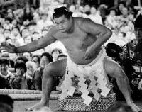 靖国神社奉納相撲での輪島=1978年4月撮影
