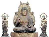 国宝「薬師如来および両脇侍像」平安時代=醍醐寺蔵、奈良国立博物館提供・佐々木香輔さん撮影