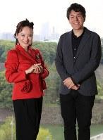 前橋汀子さん(左)と金子三勇士さん