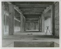 建設中の原爆資料館内部=1951~55年ごろ、米科学アカデミー所蔵