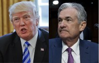 U. S. President Donald Trump, left, and Federal Reserve  Board Chair Jerome Powell (AP)
