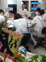 ホスピスのカンファランスでは患者の「様子」が重視される=秋田・外旭川病院ホスピスで