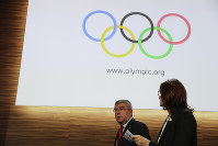 International Olympic Committee President Thomas Bach leaves at the end of the 133rd IOC session in Buenos Aires, Argentina, on Oct. 9, 2018. (AP Photo/Natacha Pisarenko)