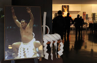 青山葬儀所で行われた元横綱・輪島さんの告別式=東京都港区で2018年10月15日午前9時36分(代表撮影)
