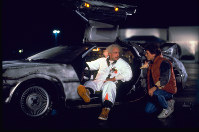 This photo provided by Universal Pictures Home Entertainment shows Christopher Lloyd, left, as Dr. Emmett Brown, and Michael J. Fox as Marty McFly in the 1985 film,