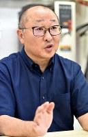 田代珈琲の田代和弘社長=東大阪市で、平川義之撮影