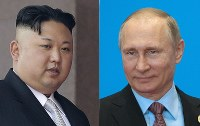 North Korean leader Kim Jong Un, left, and Russian President Vladimir Putin (AP)