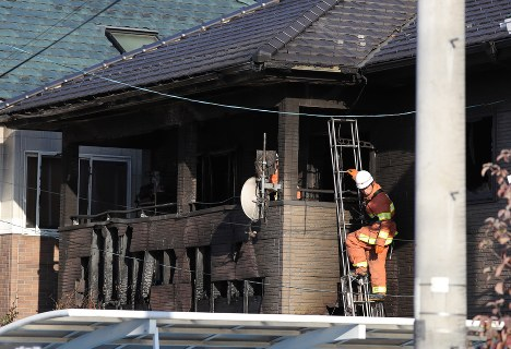 In Photos: 6 bodies found in house after fire in Sendai