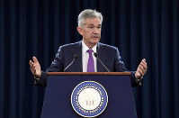 In this Sept. 26, 2018, file photo Federal Reserve Chairman Jerome Powell speaks during a news conference in Washington. (AP Photo/Susan Walsh)