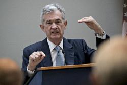 米長期金利の先行きを読もうと、パウエルFRB議長の発言に注目が集まる(Bloomberg)