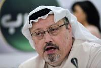 In this Feb. 1, 2015, file photo, Saudi journalist Jamal Khashoggi speaks during a press conference in Manama, Bahrain. (AP Photo/Hasan Jamali)